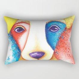 Dog Jack Russell Terrier JRT Original Art Confetti Rectangular Pillow
