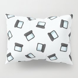 Hand drawn cartoon scattered laptop for working at home Pillow Sham