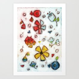 Rainbow Garden - by Diane Duda Art Print