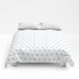 Dove gray stars on white pattern Comforters