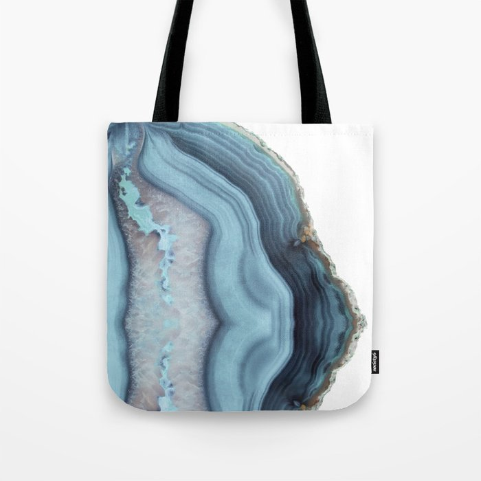 Light Blue Agate Tote Bag