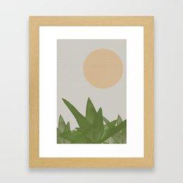 Aloe and moon Framed Art Print