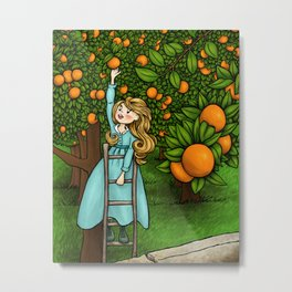 The Orange Grove Metal Print