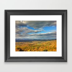 Fall in the Valley Framed Art Print