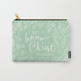 """""""I Want to Know Christ"""" Bible Verse Art Print Carry-All Pouch"""