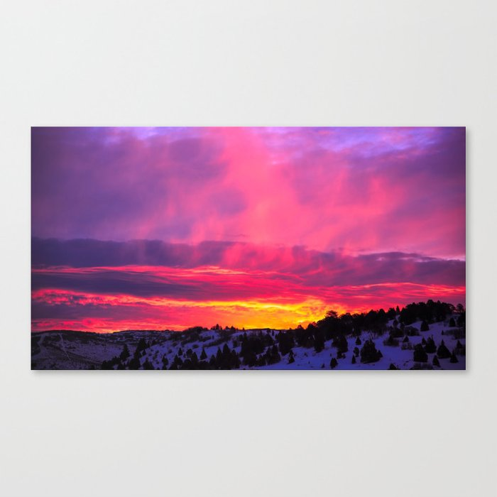 Sunset over the Artic Canvas Print