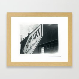 Lockhart Smokehouse Framed Art Print
