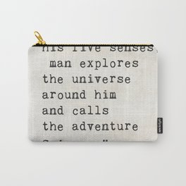 Edwin Hubble quote Carry-All Pouch