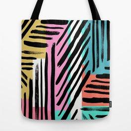 90's Stripes Tote Bag