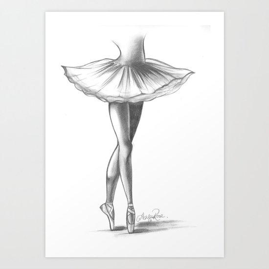 Ballerina - Ashley Rose Art Print