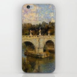 French Impressionistic Arched Bridge iPhone Skin