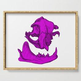 Cat Skull 3 (magenta/fuchsia) Serving Tray