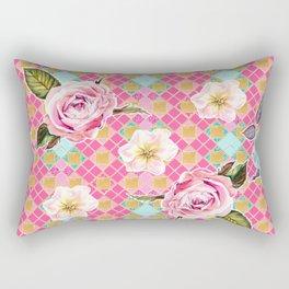 Cute pastel geometric floral print Rectangular Pillow