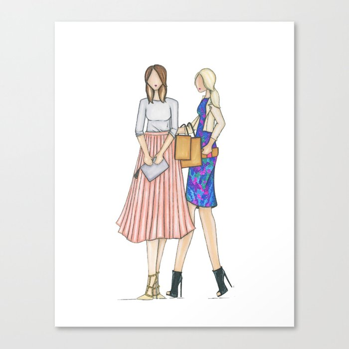 shop gals Canvas Print
