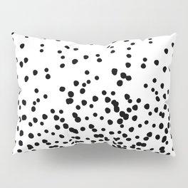 Floating Dots - Black on White Pillow Sham