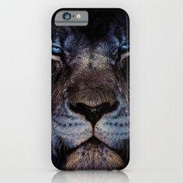 Blue-Gold Lion iPhone Case