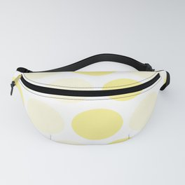 color Milan and vanil yellow circle zigzag Fanny Pack