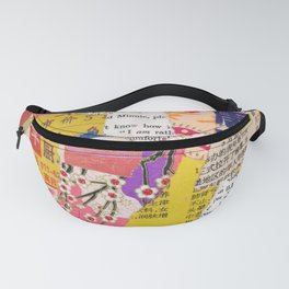 Colorful Collage Fanny Pack