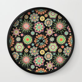 Folky Flora Wall Clock