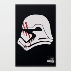 Finn Stormtrooper Profile Canvas Print