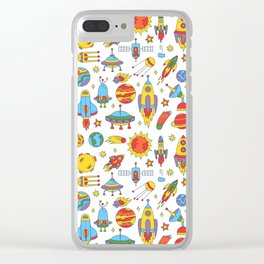 Outer space cosmos pattern Clear iPhone Case