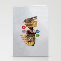 burger Stationery Cards featuring Burger by Lerson
