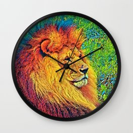AnimalColor_Lion_003_by_JAMColors Wall Clock