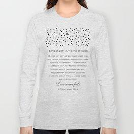 1 Corinthians 13:8 - Love Never Fails - Marriage Bible Wedding Verse Art Print Long Sleeve T-shirt