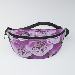 Lavender Foxglove Flower Fanny Pack