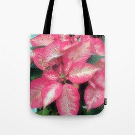 Poinsettia in pink Tote Bag