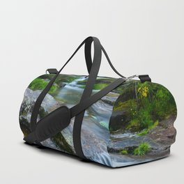 Waterfalls in wild forest Duffle Bag