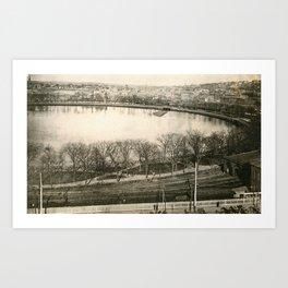 Cove Basin, Providence, Rhode Island Art Print
