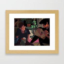 Good Times Music Jamming Painting Framed Art Print