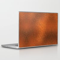 gold foil Laptop & iPad Skins featuring Gold Foil Texture 4 by Robin Curtiss