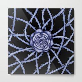 Rose Adversity Art Metal Print