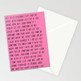 the valentine's card for the person you're not sure you should get a valentine's card for Stationery Cards