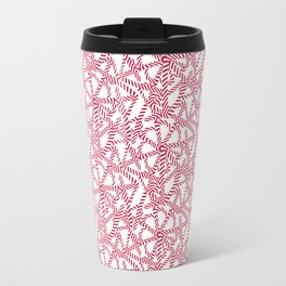 Candy cane flower pattern 5 Travel Mug