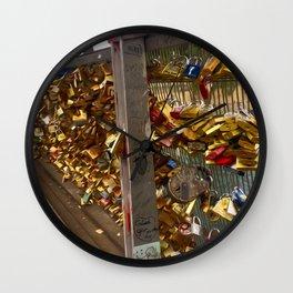 Parisienne Locks of Love Bridge Wall Clock