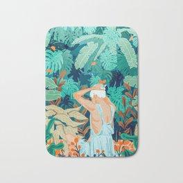 Backyard #illustration #painting Bath Mat