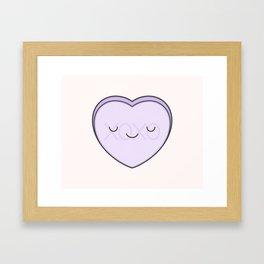 XOXO Candy Heart - Lilac Framed Art Print