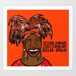 La Reina Celia Cruz Art Print