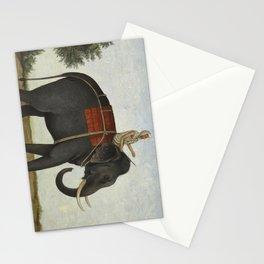 An Elephant Keeper Riding His Elephant (1825) Stationery Cards