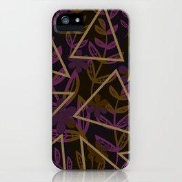 Dark Geometrics Florals iPhone Case