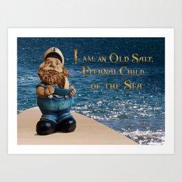 Old Salt - Sailor Art Print