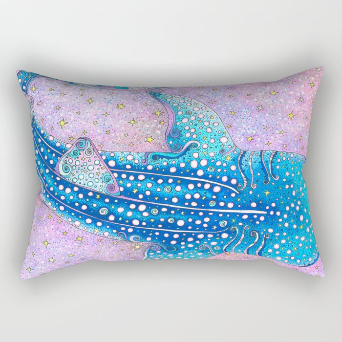 Whale Shark Galaxy Rectangular Pillow
