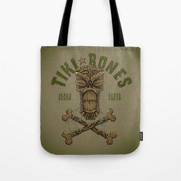 Tiki Bones Tote Bag