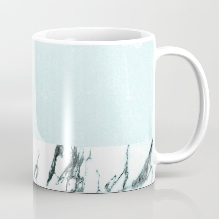 Marble & concrete - soft aqua Coffee Mug