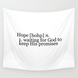 Definition of Hope Wall Tapestry