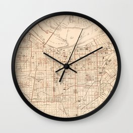 Vintage Map of Louisville KY (1879) Wall Clock