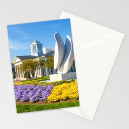 Christopher Newport University in Springtime Stationery Cards